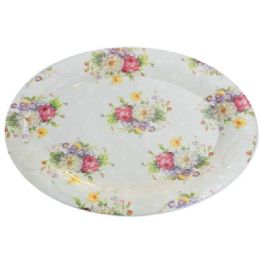 48 of Oval Tray Flower Design