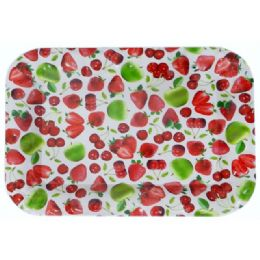48 of Assorted Fruit Design Rectangle Tray