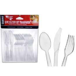 72 of 51 Pc Transparent Cutlery Set