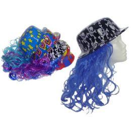 "72 of Hat With Long Hair 4 Designsupc. 13.75"" Long Hair"