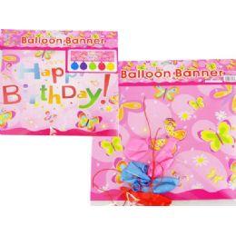 """144 of Balloon Banner+5pc 10"""" Balloon 87cmx27cm"""