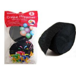96 of Streamer 2pc Black Clr 1.77*81ft Packing 1/pc