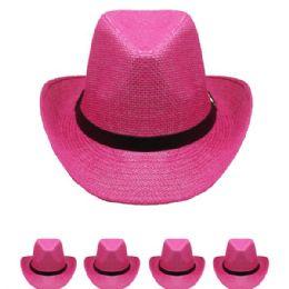 24 of WESTERN COWBOY HAT IN PINK