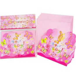 144 of Invitation Card 8pc +envelopes Butterfly Design