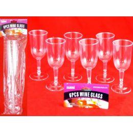 48 of 6 Piece Plastic Wine Glass