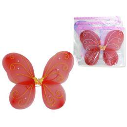 "144 of Angel Wing 15x13.75"" W/ Gemopp+upc. Pink Red Purple"