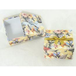 "48 of Paper Box Sq 6.3""x6.3""x3.35""flower Design"