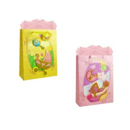 144 of Gift Baby Bag 3d M W/glitter 23x18x10cm