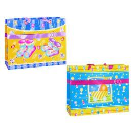 144 of Gift Bag W/button Baby 3 Asst