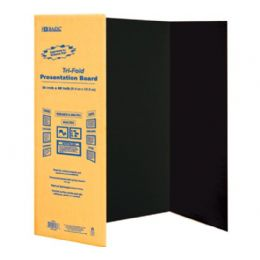 "24 of Bazic 36"" X 48"" Assorted Color TrI-Fold Corrugated Presentation Board"