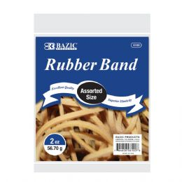 72 of Bazic 2 Oz./ 56.70 G Assorted Sizes Rubber Bands