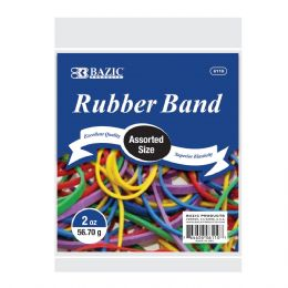 72 of Bazic 2 Oz./ 56.70 G Assorted Sizes And Colors Rubber Bands