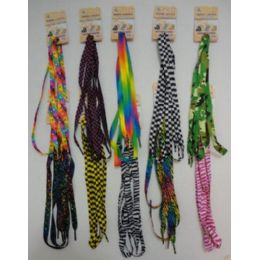 48 of 1 Pair Shoe LaceS--Assorted Printed