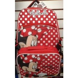 24 of Mini Mouse Girls Backpack With Insulated Luch Box Cooler