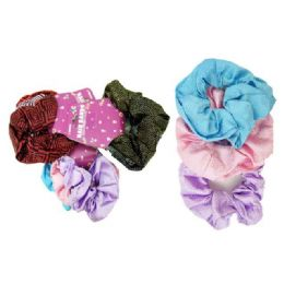288 of 3 Piece Assorted Printed Scrunchies