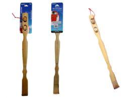 72 of 2 Piece Bamboo Backscratcher & Massager