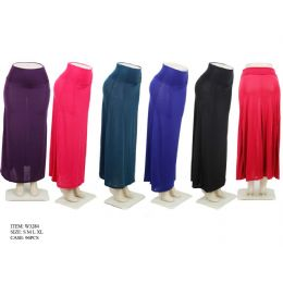 96 of Ladies Solid Color Long Skirt