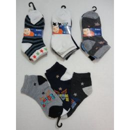 180 of Boys Printed Anklet Socks 2-4