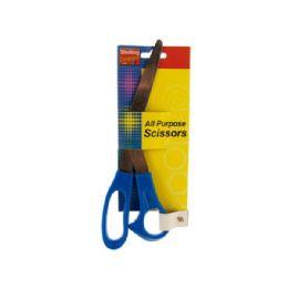 "72 of Wholesale 8"" Blue All Purpose Scissors"