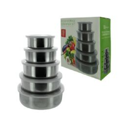 12 of Wholesale Nesting Metal Food Storage Container Set