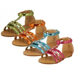 24 of Children's Rhinestone Studded Sandals