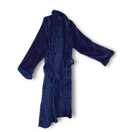 12 of Unisex Mink Touch Luxury Robe In Navy