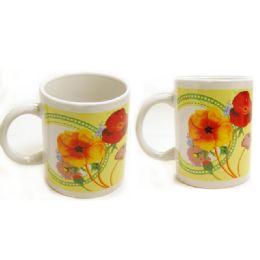 72 of Mug 2pc 11oz Flower Design