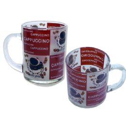 """72 of Mug 1pc 2.8"""" Dia X3.5"""" H Coffee Design"""