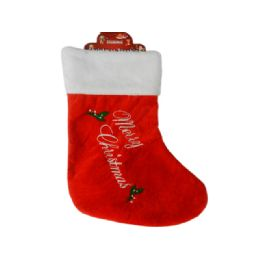 144 of Christmas Stocking Lettering Embroidered