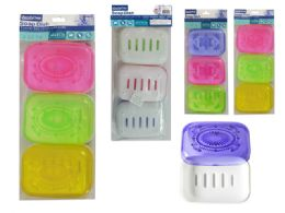 48 of 3 Piece Rectangle Soap Dish Holder