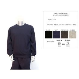 12 of Mens Sweat Shirt 90% Poly Cotton 10% Cotton Assorted