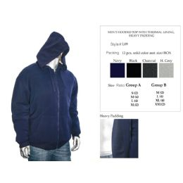 12 of Mens Hooded Top With Thermal Lining Heavy Padding