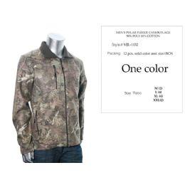 12 of Mens Polar Fleece Camouflage Sweat Shirt 90% Poly 10% Cotton