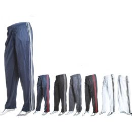 12 of Mens Fashion Track Pants Tricot Dazzle 100% Poly