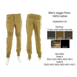 12 of Mens Jogger Pants 100% Cotton