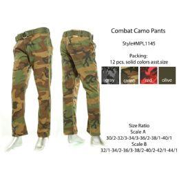 12 of Mens Combat Camo Pants