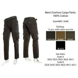 12 of Mens Fashion Cargo Pants 100% Cotton