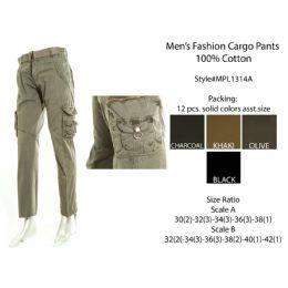 12 of Mens Fashion Cargo Pants 100 % Cotton
