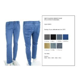 12 of Mens Fashion Skinny Jeans 97% Cotton 3% Spandex