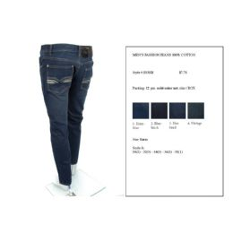 12 of Mens Fashion 100% Cotton Jeans