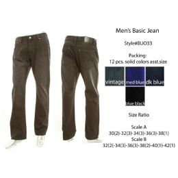 12 of Mens Basic Jeans