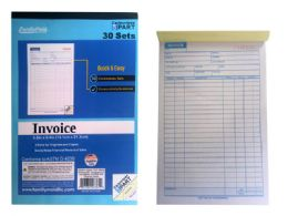 96 of 3 Part Invoice Book, 30 Sets