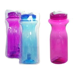 "48 of Water Bottle 1l 3x9.75""h100g Pink,blue Clr"