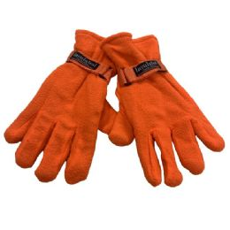 24 of Men's Orange Fleece Gloves
