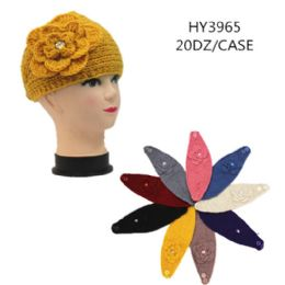 60 of Ladies Fashion Winter Head Band With Flower