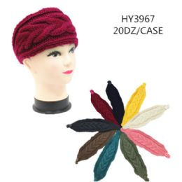 60 of Ladies Fashion Winter Head Band Solid Colors