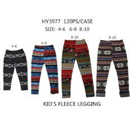 60 of Girls Fashion Tribal Fleece Leggings