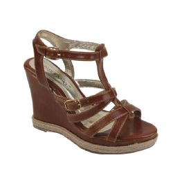 12 of Ladies' Fashion Wedges In Camel