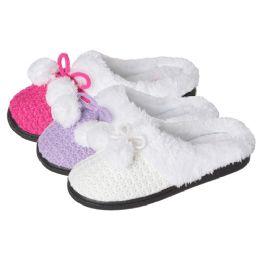 36 of Girls Knit Pom Pom Slipper