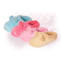 36 of Girls Fuzzy Pom Pom Slipper